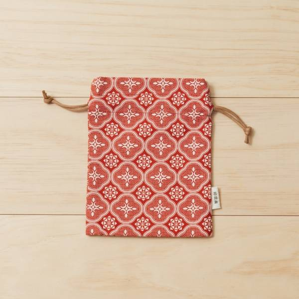 束口小物袋/玻璃海棠/名伶深紅 束口袋, 收納袋