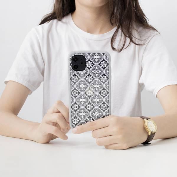 【預購/含iPhone12】印花樂X犀牛盾NX背板-iPhone/玻璃海棠/背蓋透明白(小) 手機殼, 手機套, 犀牛盾, iPhone 手機殼, iPhone 12