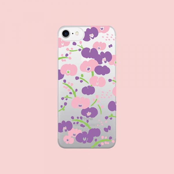 犀牛盾MOD NX背板/雜花/背蓋透明蘭花粉 手機殼, 手機套, 犀牛盾, iPhone 手機殼