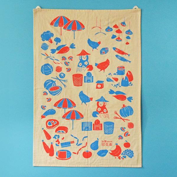 家事布/菜市場/假日紅藍 布巾, 家事布