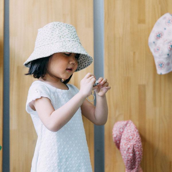 遮陽漁夫帽-兒童/台灣八哥4號/橄欖綠 兒童遮陽帽, 兒童帽, 漁夫帽
