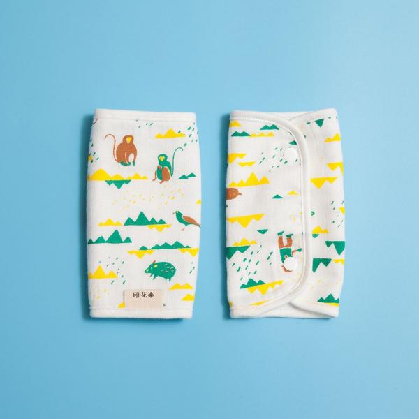 寶寶背帶口水巾二入組/山中健行/健康黃綠 背帶口水巾, 口水巾
