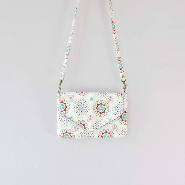 側背信封口小包/煙火/絢爛粉紅 隨身包, 側背包