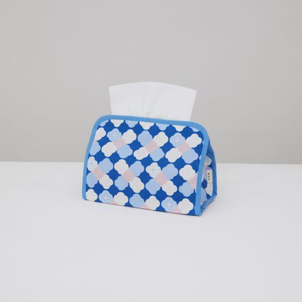 小屋面紙套/玻璃海棠2號/學院藍 面紙套,面紙盒