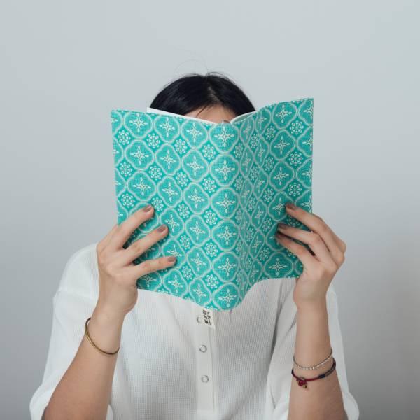 25K布書衣/玻璃海棠/冰晶藍綠 書衣, 小說書衣