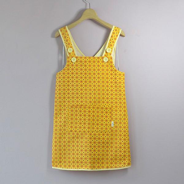 兒童圍裙-130/老磁磚2號/陽光黃色 圍裙