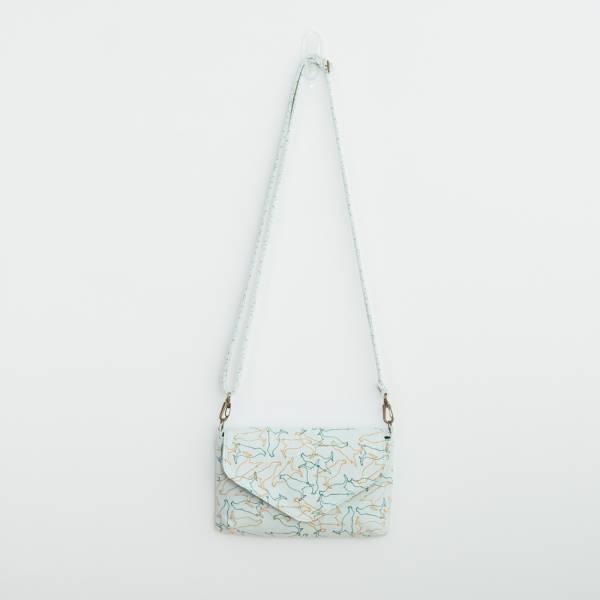 側背信封口小包/台灣八哥/白晝藍 隨身包, 側背包
