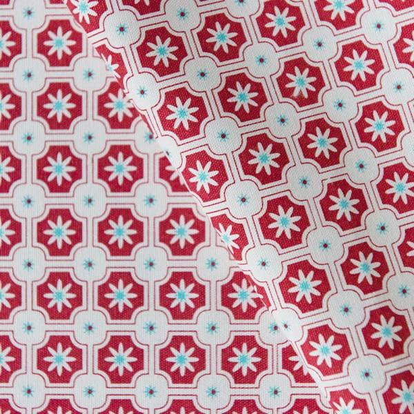 手印棉帆布-250g/y/老磁磚2號/玫瑰紅色 布料, 棉帆布, 手作材料