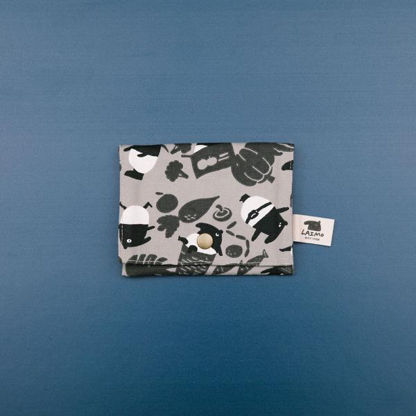 單釦面紙小物袋/限定花色/印花樂x馬來貘-黑白菜市場 面紙袋, 小物袋