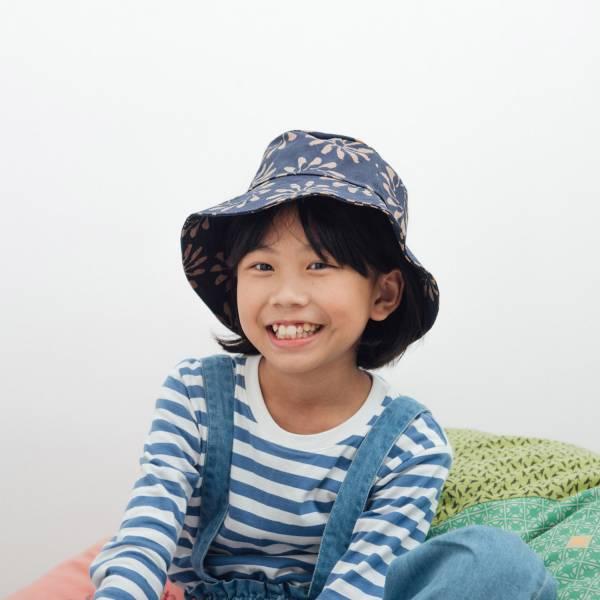 遮陽漁夫帽-兒童/烏秋圈圈/海軍藍色 兒童遮陽帽, 兒童帽, 漁夫帽