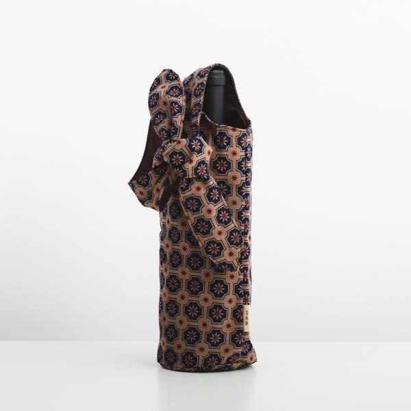 大大兔耳袋/老磁磚2號/古董藍褐 飲料提袋, 環保飲料提袋, 隨行杯提袋, 兔耳袋
