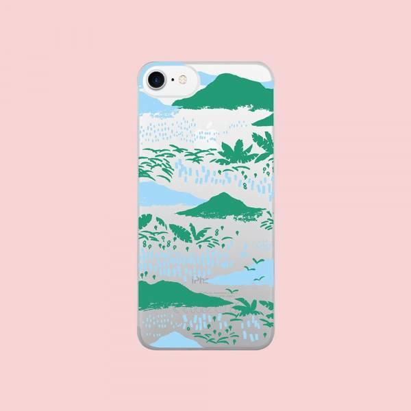 【現貨】印花樂X犀牛盾NX背板-iPhone X/雜花/背蓋透明縱谷藍 手機殼, 手機套, 犀牛盾, iPhone 手機殼