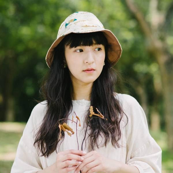 【有機棉】花瓣帽/山中健行/風土黃褐 遮陽帽, 花瓣帽
