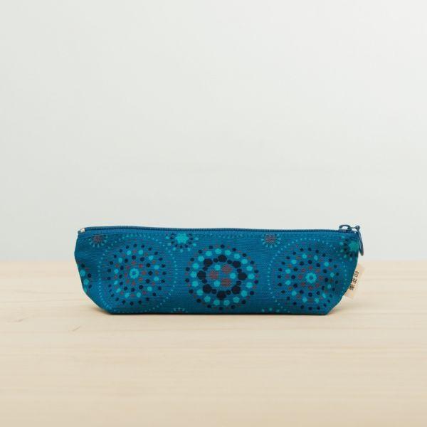 拉鏈筆袋/煙火/星夜藍色 文具,筆袋,玻璃海棠