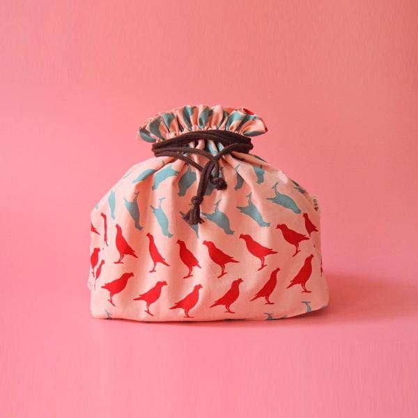 束口旅行衣物袋-L/台灣八哥5號/桃粉藍紅 旅行衣物袋