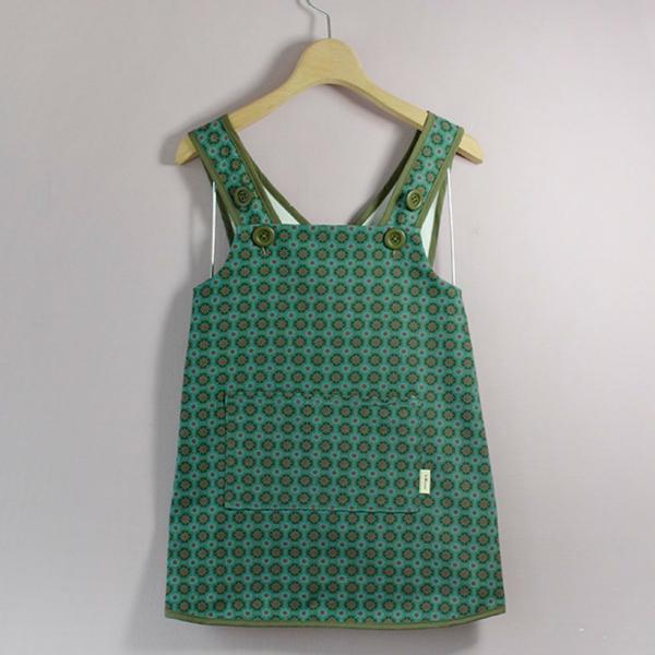 兒童圍裙-130/老磁磚2號/海藻藍綠 圍裙