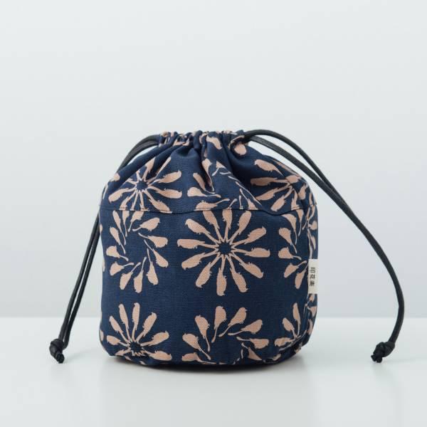 球型束口袋/烏秋圈圈/海軍藍色 束口袋, 收納袋