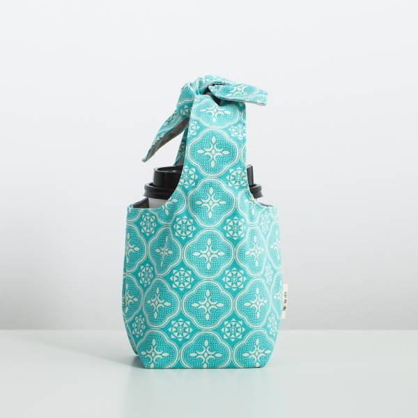 小胖兔耳袋/玻璃海棠/冰晶藍綠 飲料提袋, 環保飲料提袋, 隨行杯提袋, 兔耳袋