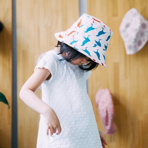 遮陽漁夫帽-兒童/台灣八哥5號/古宅紅粉 兒童遮陽帽, 兒童帽, 漁夫帽