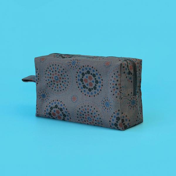 拉鏈長方收納包/煙火/夜空灰色 收納包, 化妝包, 盥洗包