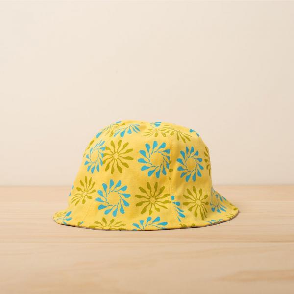 花瓣帽-兒童/烏秋圈圈/陽光黃色 兒童遮陽帽, 兒童帽, 花瓣帽