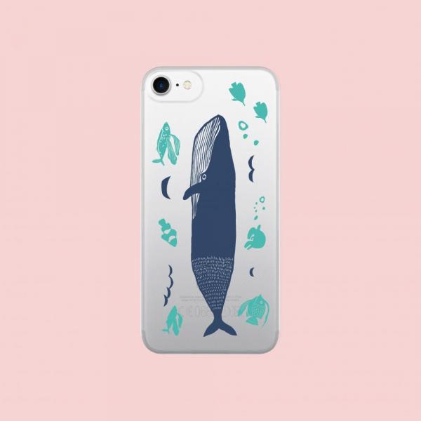 【現貨】印花樂X犀牛盾NX背板-iPhone X/海的寶物_魚群/背蓋大鯨魚藍色 手機殼, 手機套, 犀牛盾, iPhone 手機殼