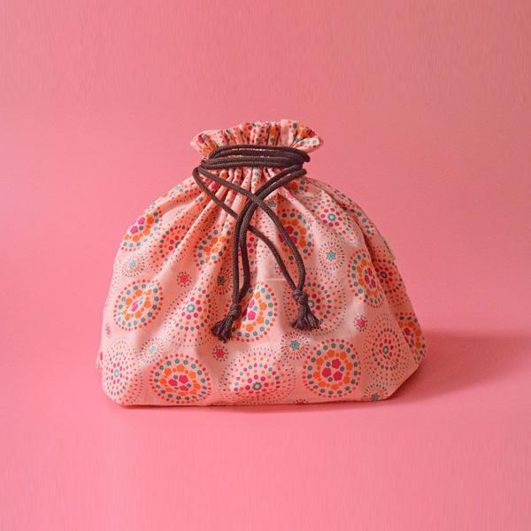 束口旅行衣物袋-L/煙火/桃粉橘綠 旅行衣物袋
