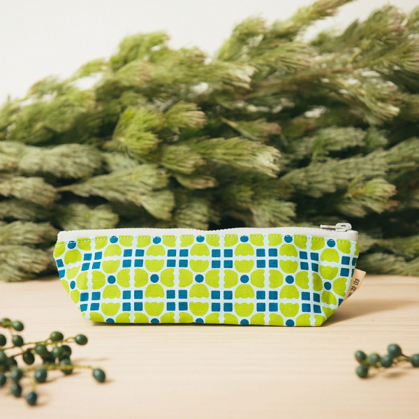 拉鏈筆袋/老磁磚4號/果樹綠色 筆袋, 文具袋