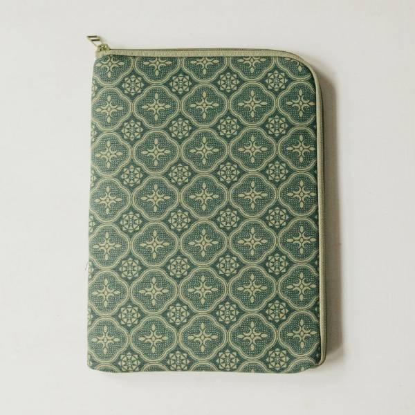 10.5吋 iPad收納包/玻璃海棠/古董草綠 平板保護殼, 平板保護袋, iPad收納袋