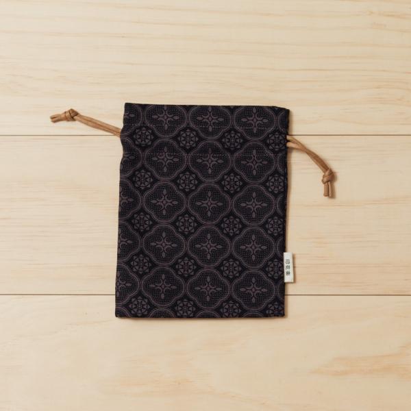 束口小物袋/玻璃海棠/紳士黑色 束口袋, 收納袋