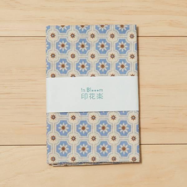 和風手拭巾/老磁磚2號/繡球花紫 手帕, 方巾, 掛壁裝飾, 手拭巾, 包袱巾