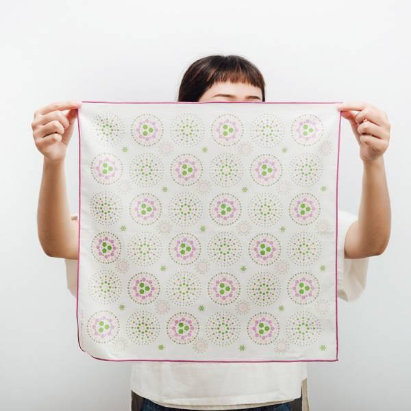 包布巾/煙火/花園粉綠  布巾, 包巾, 手帕
