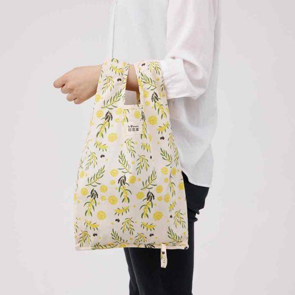 可收捲小背心袋/米力系列/黃相思 手提袋, 背心袋, 購物袋