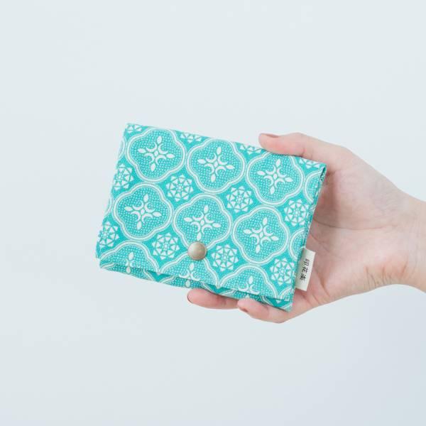 單釦面紙小物袋/玻璃海棠/冰晶藍綠 面紙袋, 小物袋