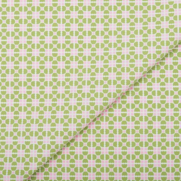 手印棉帆布(滿花)-250g/y/老磁磚4號/軟糖粉綠 布料, 棉帆布, 手作材料