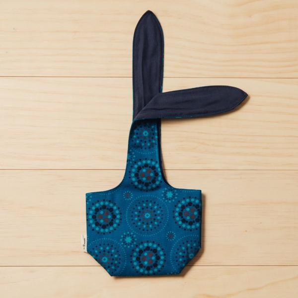 小胖兔耳袋/煙火/星夜藍色 飲料提袋, 環保飲料提袋, 隨行杯提袋, 兔耳袋