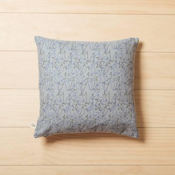 柔適抱枕套/台灣八哥/灰藍黑 抱枕,枕頭,居家