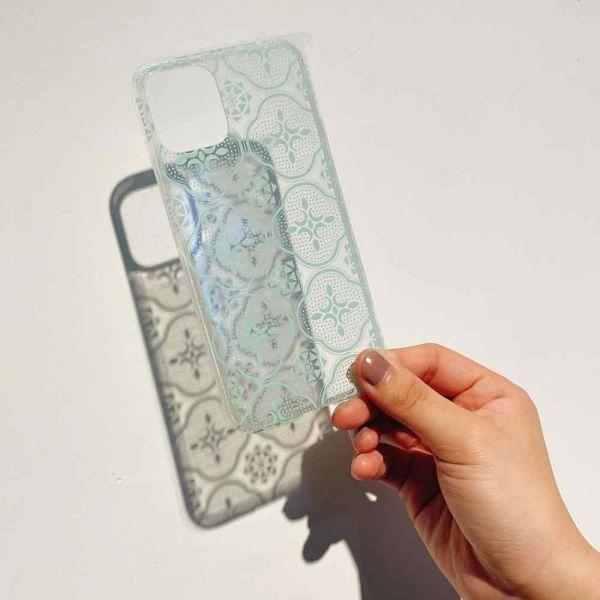 【現貨】印花樂X犀牛盾NX背板-iPhone 11/ 11 Pro/玻璃海棠/背蓋透明粉綠