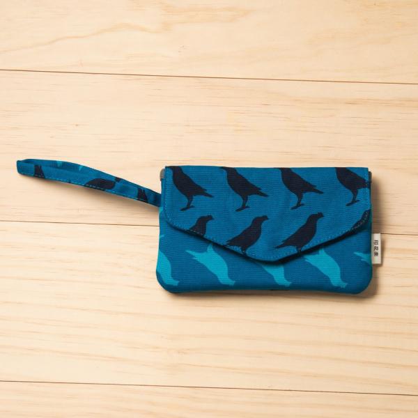 手機掛腕收納袋/台灣八哥5號/湖心藍色 手機套, 手機收納包, 手機配件