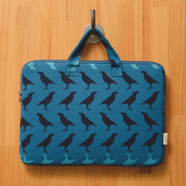 13吋筆電收納包/台灣八哥5號/湖心藍色 筆電包, 筆電袋