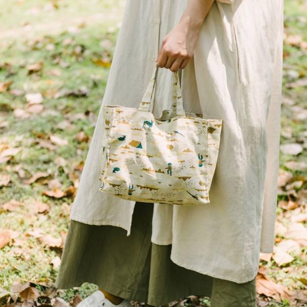 【有機棉】單釦長方便當袋/山中健行/風土黃褐 飲料提袋, 便當袋, 方形袋,袋子,小袋子