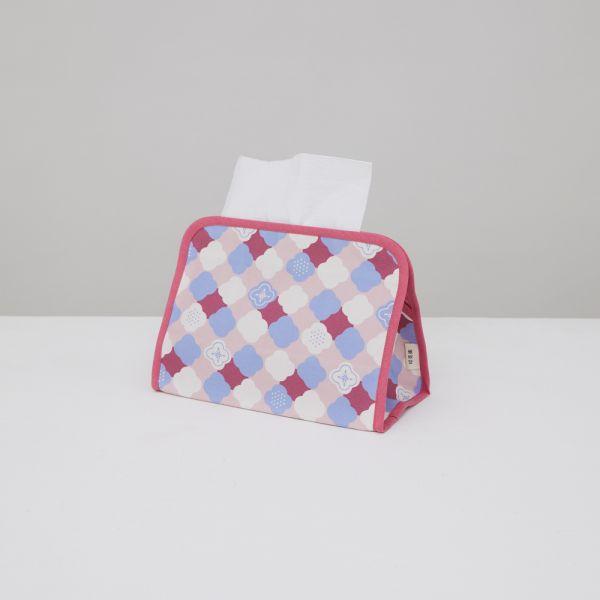 小屋面紙套/玻璃海棠2號/霧花粉 面紙套,面紙盒