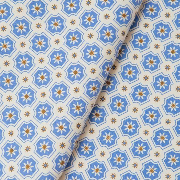 手印棉帆布_滿花-250g/y/老磁磚2號/繡球花紫 布料, 棉帆布, 手作材料