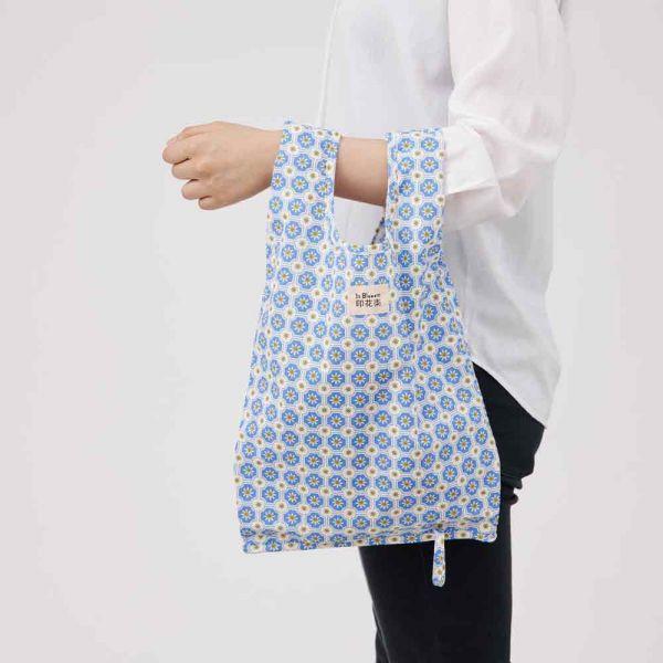 可收捲小背心袋/老磁磚2號/繡球花紫 手提袋, 背心袋, 購物袋