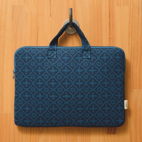 13吋筆電收納包/玻璃海棠/宅邸深藍 筆電包, 筆電袋