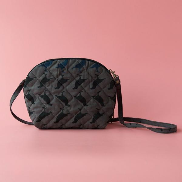 菠蘿側背小包/台灣八哥5號/工匠灰黑 隨身包, 側背包