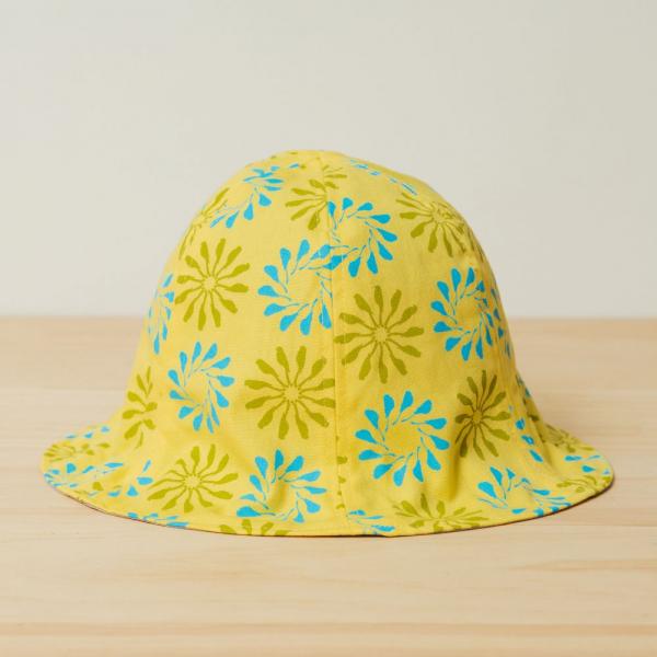 花瓣帽/烏秋圈圈/陽光黃色 遮陽帽, 花瓣帽