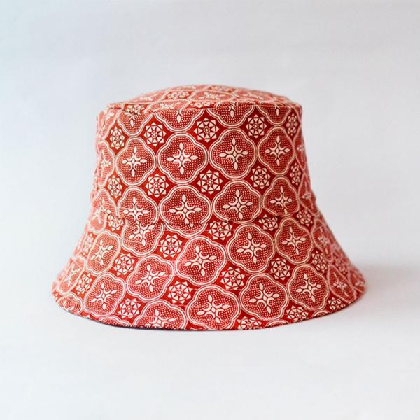 遮陽漁夫帽/玻璃海棠/名伶深紅 遮陽帽, 漁夫帽