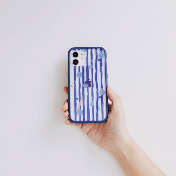 【現貨/含iPhone12】印花樂X犀牛盾NX邊框背蓋兩用殼-碎冰泡泡/清涼藍白 手機殼, 手機套, 犀牛盾, iPhone 手機殼,戀夏冰果室 #冰果室 #復古印花