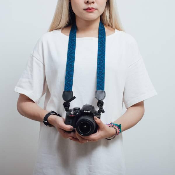 相機揹帶/玻璃海棠/宅邸深藍 相機揹帶
